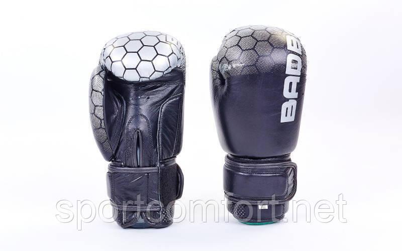Боксерские перчатки Bad boy (натуральная кожа) черные
