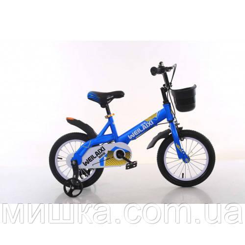 """Велосипед TopRider 876 14"""" синий детский двухколесный"""