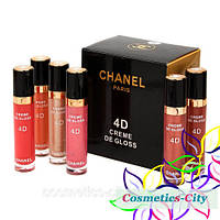 Блеск для губ Chanel Rouge Shine Creme de Gloss 4D, (Палитра В)