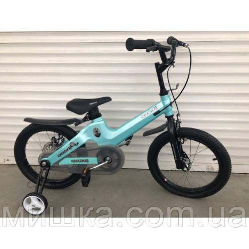 """Велосипед TopRider TT-06 16"""" магниевый, голубой металлик детский двухколесный"""