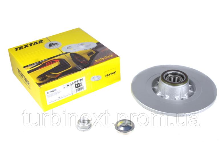 Диск тормозной TEXTAR 92196203 (задний) Renault Kangoo 08- (274х11) (+ABS) (с подшипником) PRO