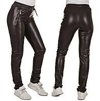 Женские теплые брюки эко-кожа + мех 42-56