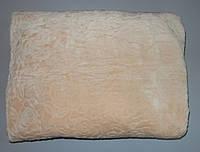 Плед Koloco микрофибра простынь покрывало 220х240 раз бежевый, фото 1