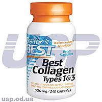 Doctor's BEST Collagen Types 1&3 500 mg коллаген для суставов и связок кожи волос и ногтей