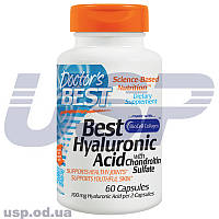Doctor's BEST Hyaluronic Acid + Chondroitin Sulfate with Collagen гиалуронка коллаген для суставов