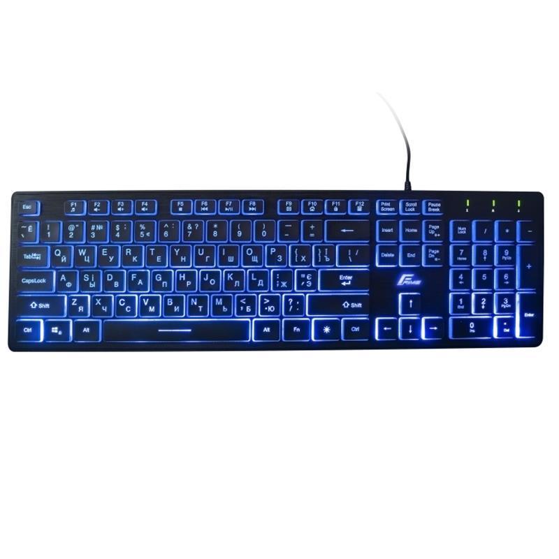 Клавиатура Frime Moonfox (FLK18200) USB Black Blue LED