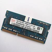 Оперативная память для ноутбука Hynix SODIMM DDR3 2Gb 1333MHz 10600s (HMT325S6CFR8C-H9 N0 AA) Б/У, фото 1
