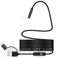 Эндоскоп 3 в 1 microusb / usb / type C. Диаметр 5,5 мм. (К31-500) Длина кабеля 1,5 метра