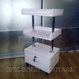 Тумбакосметологическая, тележка на колесиках с 1 ящиком