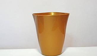Цветочный горшок Кашпо Амарис Серый ;Золото; Бежевый; Белый перламутр; 1.75 литров диаметром 14 см.