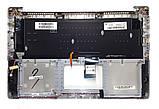 Оригинальная клавиатура для ноутбука Asus N501, N501J, N501JW, N501V, N501VW series, ru, silver, подсветка, фото 2