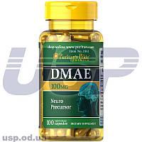 Puritan's Pride DMAE 100 mg ДМАЕ улучшение памяти работы мозга стимулятор