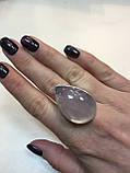 Кольцо капля розовый кварц в серебре. Кольцо с розовым кварцем. Размер 20 Индия, фото 2