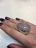 Кольцо капля розовый кварц в серебре. Кольцо с розовым кварцем. Размер 20 Индия, фото 4