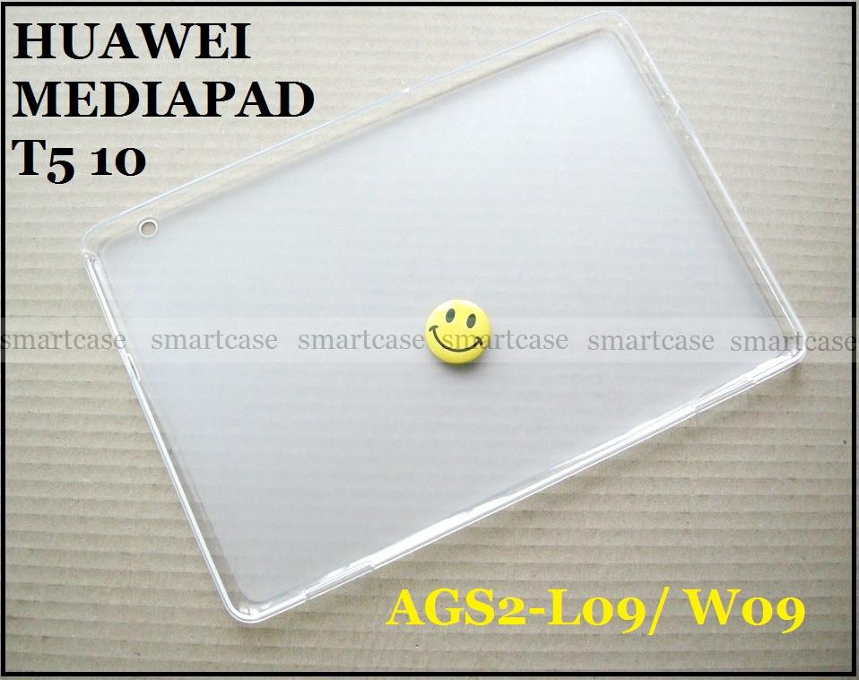 Полупрозрачный силиконовый чехол Huawei Mediapad T5 10 AGS2-L09 AGS2-W09 эластичный