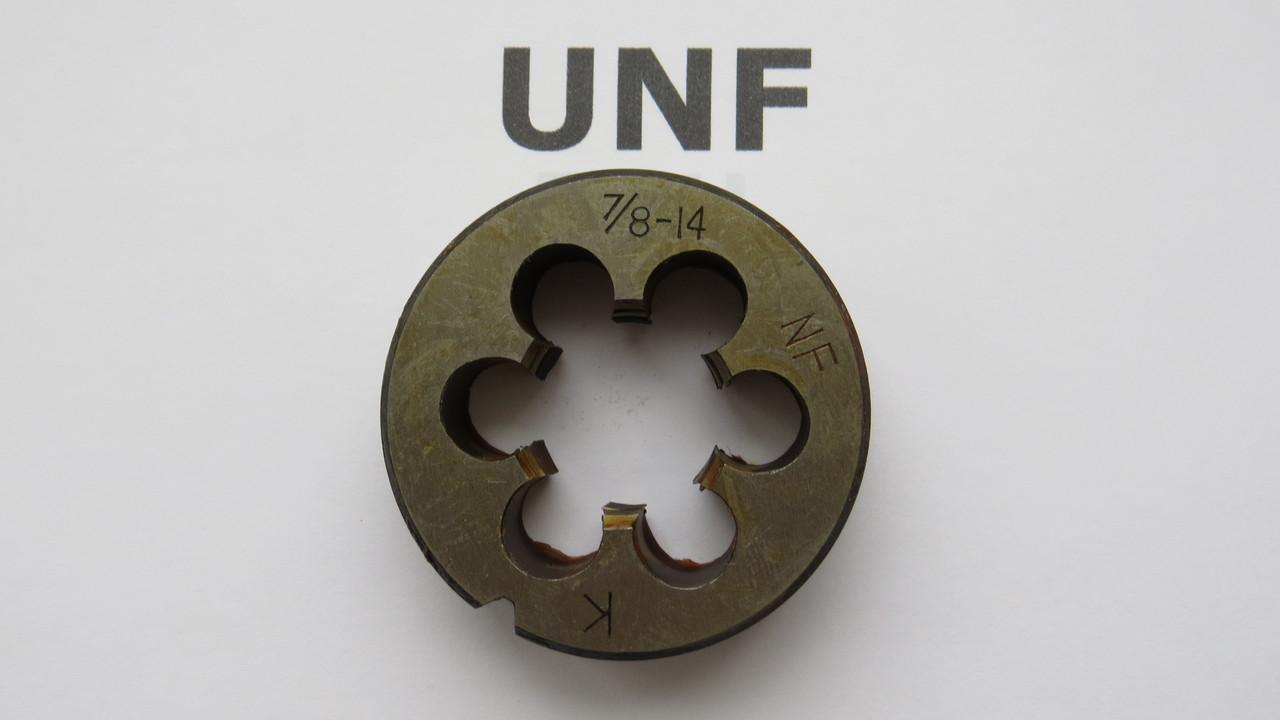 Плашка дюймовая UNF 7\8 14 ниток на дюйм KRINO