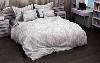 Двуспальный комплект постельного белья с евро простыней «Красочный узор» из бязи голд