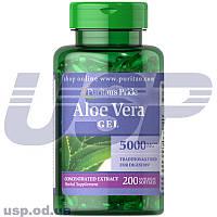 Puritan's Pride Aloe Vera Extract 25mg эквивалент 5000мг алоэ-вера для иммунитета антиоксиданты витамины