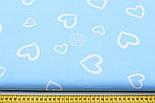 """Ткань бязь """"валентинка на голубом"""" (№111)., фото 2"""