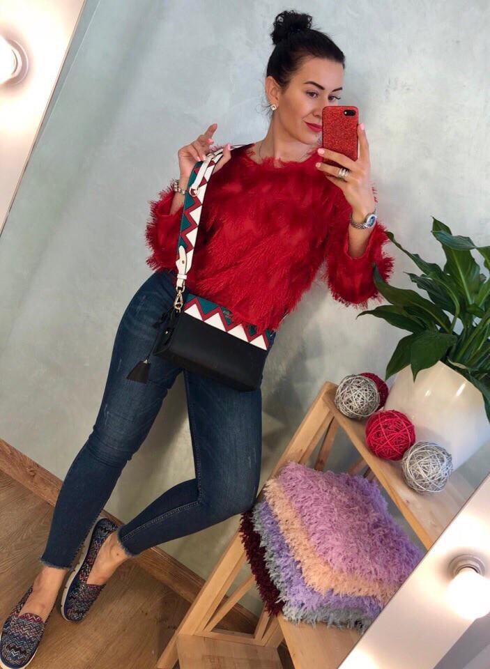 Женский стильный свитер РАЗНЫЕ ЦВЕТА(Фабричный Китай ) Код 0153
