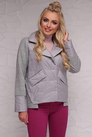 Новинка! женская демисезонная куртка серого цвета, размер: 2xl, фото 2