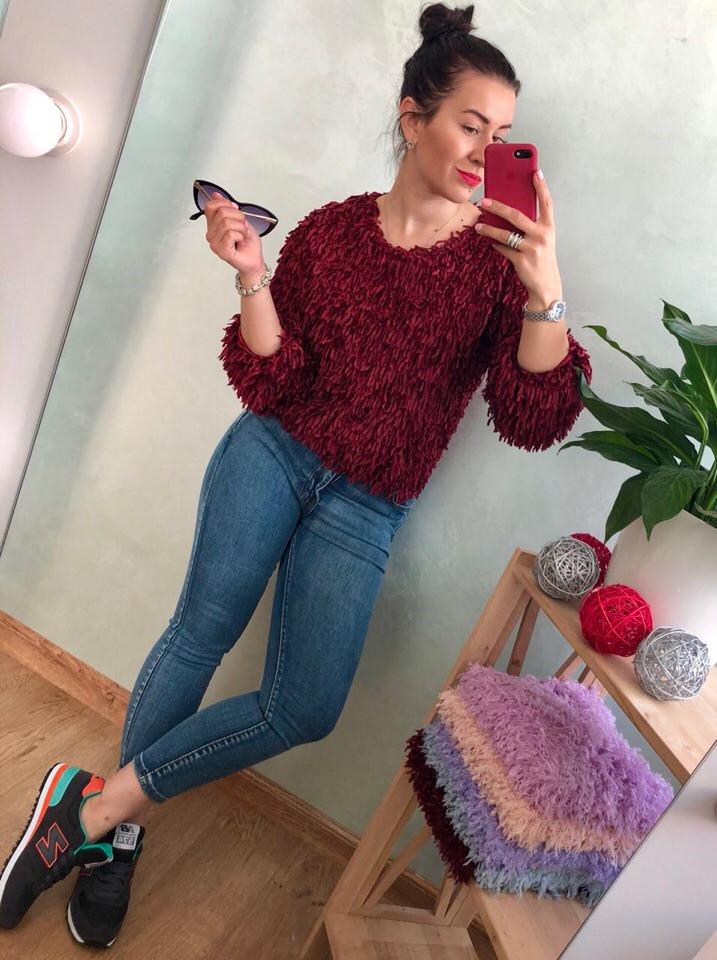 Женский эффектный свитер РАЗНЫЕ ЦВЕТА(Фабричный Китай ) Код 0146