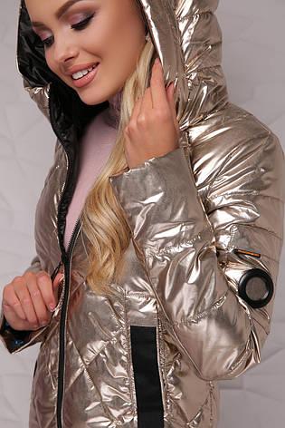 Новинка! женская курточка демисезонная золотистого цвета,размер:42,44,46,48,50, фото 2