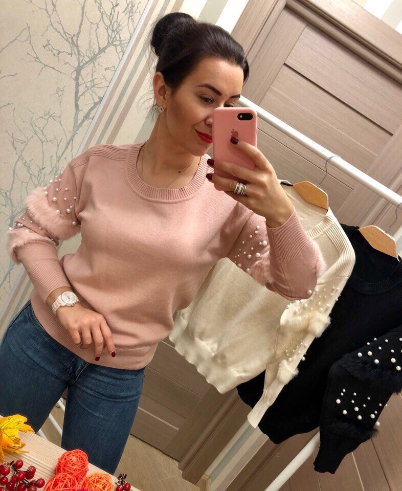 Женский модный свитер РАЗНЫЕ ЦВЕТА(Фабричный Китай ) Код 084