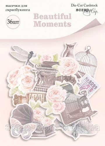 Набор высечек для скрапбукинга 36шт от Scrapmir Beautiful Moments