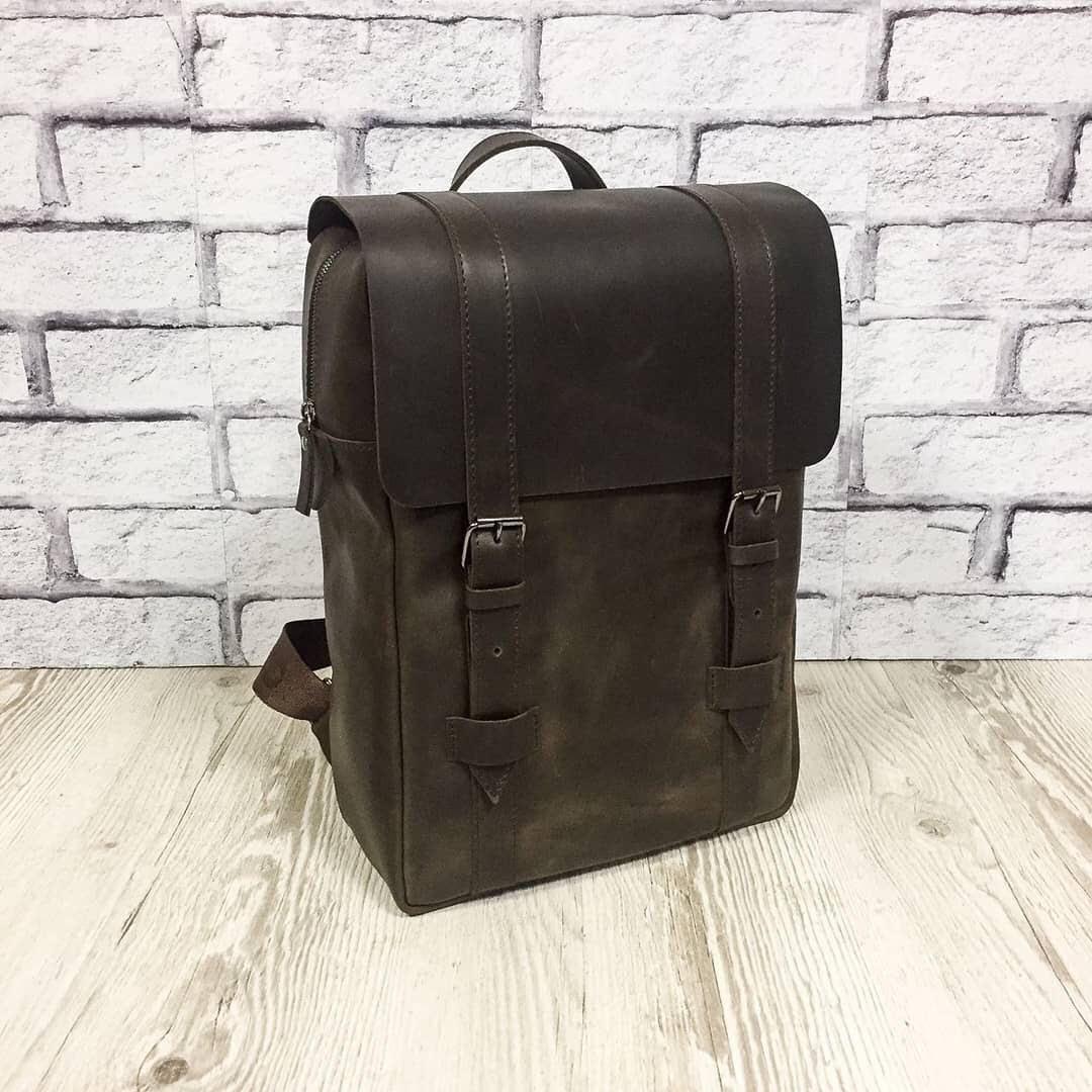 """Мужской кожаный рюкзак """"Felix"""" коричневый"""