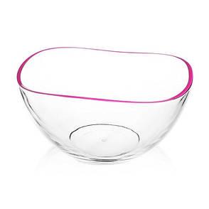 Салатница, окрашенный ободок, 21 см, малиновый, фото 2