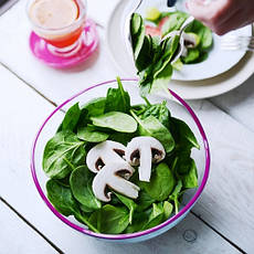Салатница, окрашенный ободок, 21 см, малиновый, фото 3