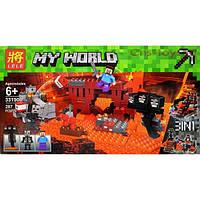 """Конструктор Minecraft """"Иссушитель"""" Майнкрафт Lele 33190 287 деталей"""