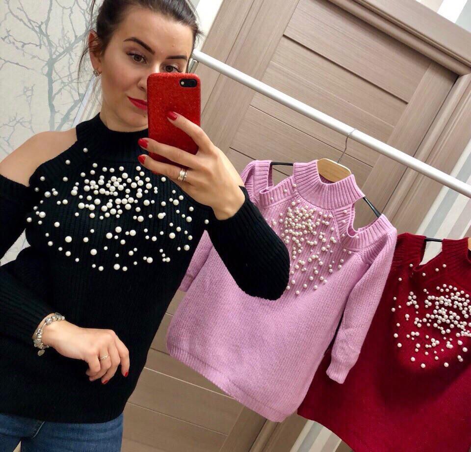 Женский модный свитер РАЗНЫЕ ЦВЕТА(Фабричный Китай ) Код 027