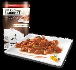 Gourmet Ala Carte говядина c овощами в подливе 85г