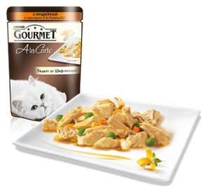 Gourmet Ala Carte индейка с овощами в подливе 85г