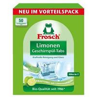 Таблетки для посудомойки бесфосфатные Frosch Limonen 50шт
