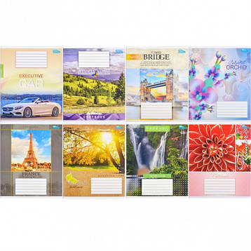 Тетрадь 48 листов «Квітка» клетка               2609к, фото 2