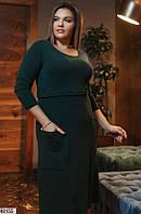 Демисезонное женское платье ангора больших батальных размеров 50-62, 3 цвета