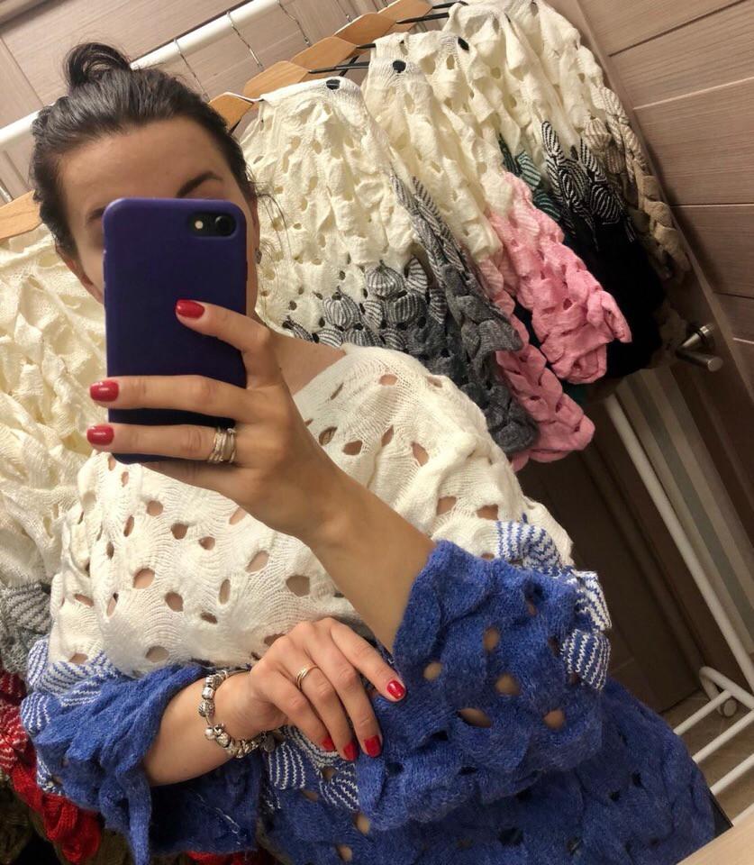 Женский нарядный свитер РАЗНЫЕ ЦВЕТА(Фабричный Китай ) Код 014