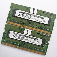 Оперативная память для ноутбука Micron SODIMM DDR3 4Gb (2+2) 1600MHz 12800S CL11 (MT8JTF25664HZ-1G6M1) Б/У, фото 1