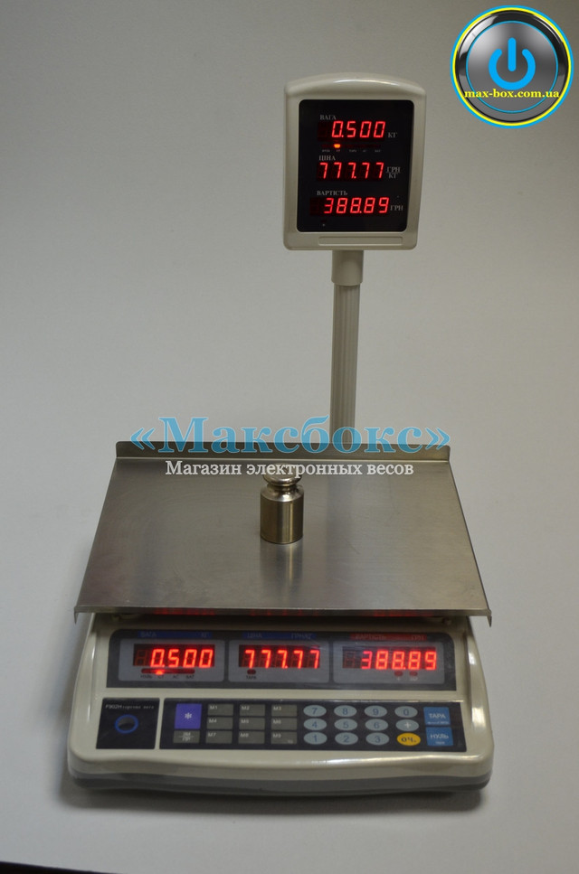 Весы торговые 6 кг настольные F902H-6E (Днепровес ВТД-ЕЛ