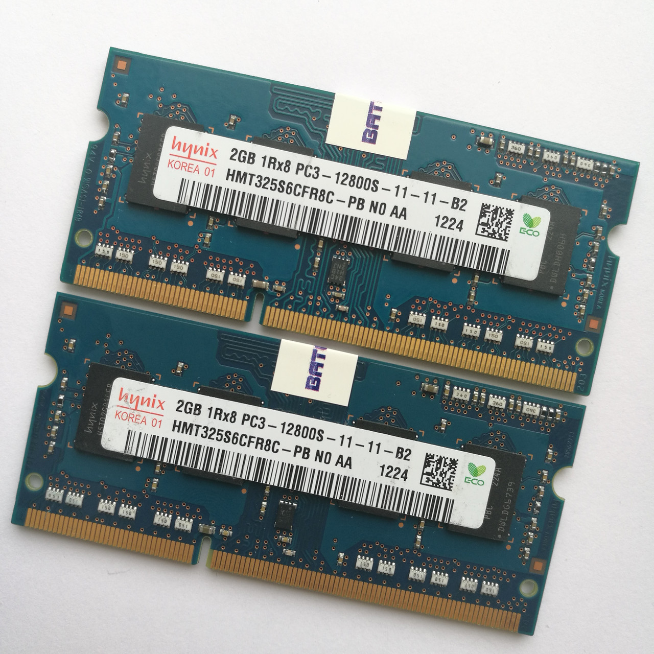 Оперативная память для ноутбука Hynix SODIMM DDR3 4Gb (2+2) 1600MHz 12800S CL11 (HMT325S6CFR8C-PB N0 AA) Б/У