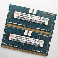 Оперативная память для ноутбука Hynix SODIMM DDR3 4Gb (2+2) 1600MHz 12800S CL11 (HMT325S6CFR8C-PB N0 AA) Б/У, фото 1