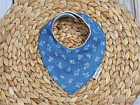 Слюнявчики для грудничков, джинс цветочный, фото 1