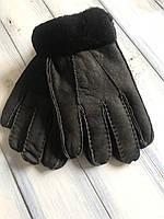 Мужские зимние перчатки дубленка
