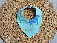 Треугольные слюнявчики для малышей, индиана, фото 1