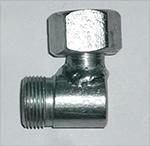 Штуцер соединительный S24 угловой с гайкой (М20х1,5), фото 2