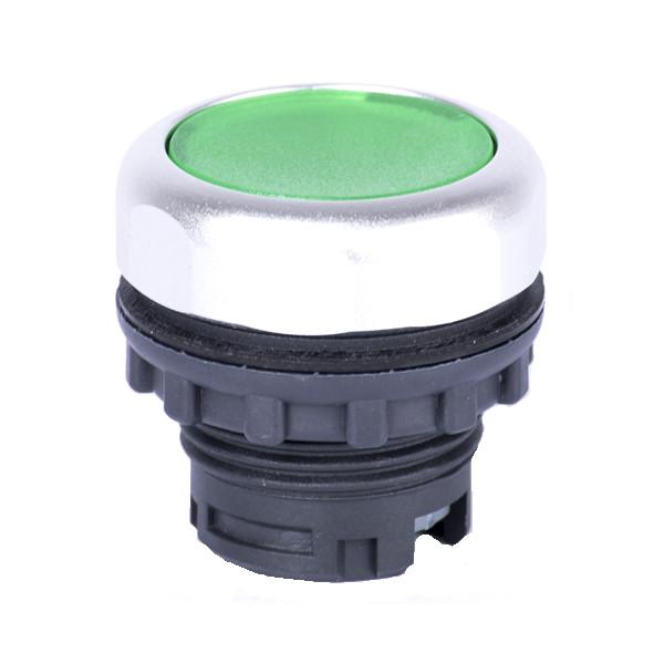 Ex9P1 Fl g, Кнопка зеленая с подсветкой без фиксации (105619)