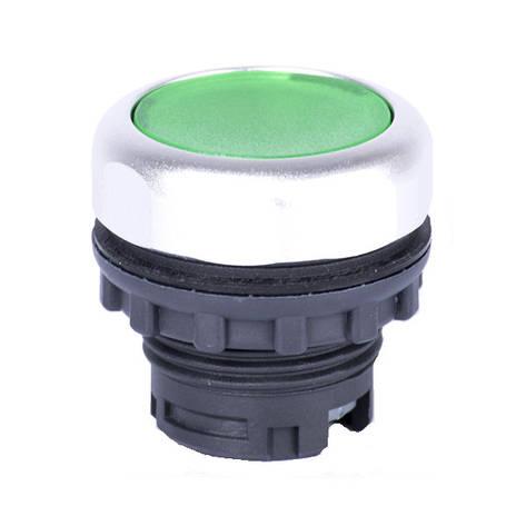 Ex9P1 Fl g, Кнопка зеленая с подсветкой без фиксации (105619), фото 2